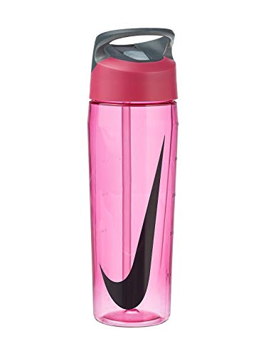 Nike TR Hypercharge Straw Bottle 24oz/709 ml vivid pink/cool grey
