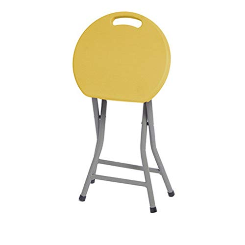 Tragbare Klappstühle aus Kunststoff und Metall geeignet for Camping Küche for Erwachsene Garten Bad Grills Klappstühle for Erwachsene Haushaltsgebrauch Komfort-Faltliege ( Farbe : Gelb , Größe : L )