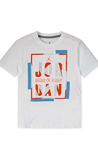 Jordan Jungen Marke of Flight T-Shirt, Jungen, weiß (Jordan Für Kinder Flight)