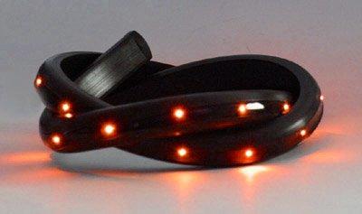 Preisvergleich Produktbild LED-Strip,  40 cm,  24 LEDs,  12VDC,  amber,  hochflexible Silikonumhüllung schwarz