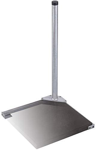 DUR-line Herkules 1-Plattenständer Feuerverzinkt - sehr stabil - kinderleichte Montage [Flachdachständer, Balkonständer, Gehwegplatten, Terassenständer, Sat-Antenne]