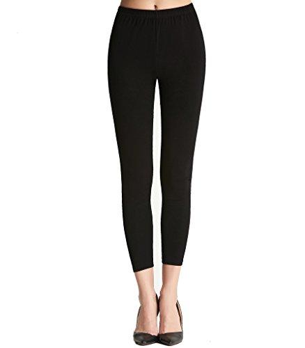 Liang Rou Women's Mini-Ribbed Ultra-Thin Full Length Leggings