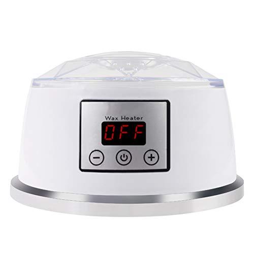 Chauffe-cire pour épilation à la maison, température réglable, avec affichage LED, voir-à travers la couverture ventilée, pour la main/visage/plein corps