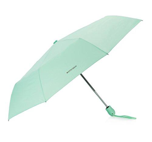 WITTCHEN Regenschirme Regenschirm, 55x0 cm, Türkis, Polyester, Handmade, PA-7-120-71