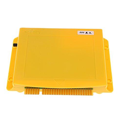 Baoblaze 999 in 1 Klassisch Multi Spielbrett, Game Board, Kampf Spielkonsole Board, Support for CRT/LCD - Gelb (Crt-board)