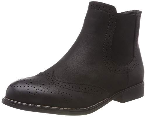 Rieker Damen 98791 Chelsea Boots, Schwarz (Schwarz 00), 38 EU -