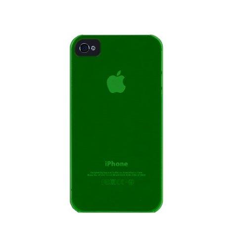 iLuv iCC733 Gamme Silk Coque ultra fine transparent pour iPhone 4 Rose Vert