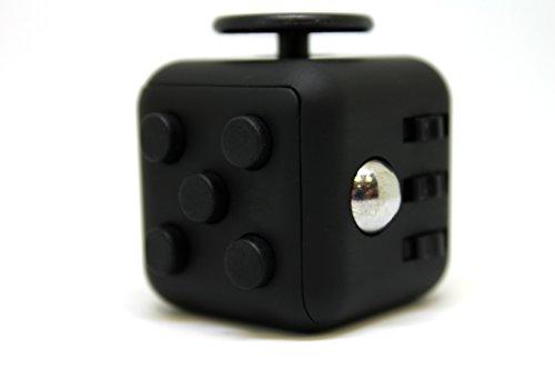 #Stresswürfel Cube – Spielzeug gegen Stress wie Fidget Cube – Anti Stress Würfel, Langeweile bekämpfen, Super Gagdet (Schwarz)#
