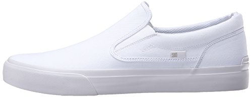 DC Shoes Men's Trase Slip-On TX Low Top Sneakers White/white