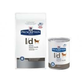 Croquettes Hill's Prescription Diet Canine L/D 12 Boîtes de 370 g