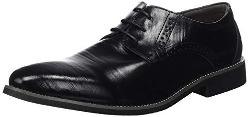 Zapatos Oxford Hombre, Brogue Cuero Boda Negocios Calzado Vestir Cordones Derby Negro Marron Azul Rojo Amarillo 37-48EU BK38