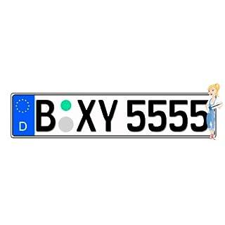Kfz Kennzeichen mit Eurofeld 520x110mm, reflektierend, aus Aluminium