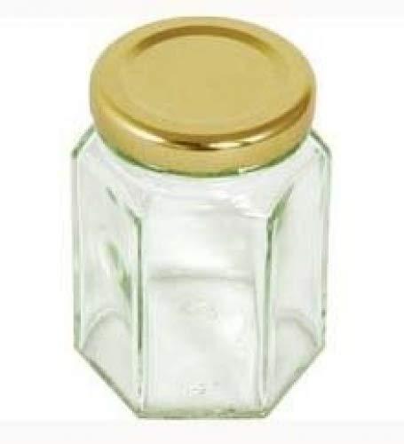 Nutley's Einmachglas, sechseckig, 110ml, 72Stück (Favor Gläser Wedding)