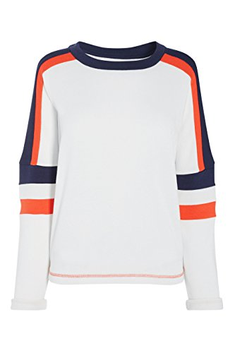 next Sweat en colour-block Standard Femme Ecru