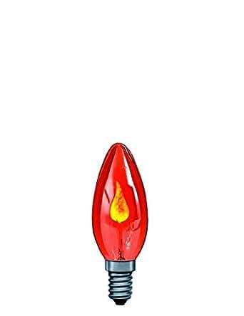ampoule incandescente flamme scintillante 3w e14 rouge luminaires et eclairage. Black Bedroom Furniture Sets. Home Design Ideas