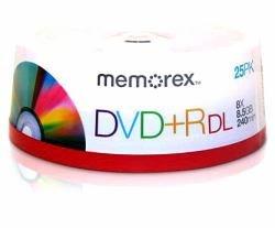 Memorex DVD + R double couche MRX 8.5Go 8x Spindle 25imprimable