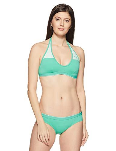 PUMA Damen Bikini Active Halterneck Mint Leaf, L