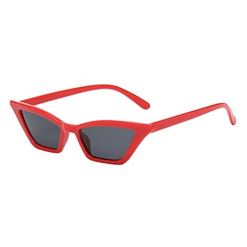 Makefortune Frauen Sonnenbrillen, Frauen-Weinlese-Katzenaugen-Sonnenbrille-Retro- kleiner Rahmen UV400 Eyewear arbeiten Damen-Gläser um (F)