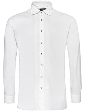 Hammerschmid Trachtenhemd Ferdinand Regular Fit mit Biesen in Weiß