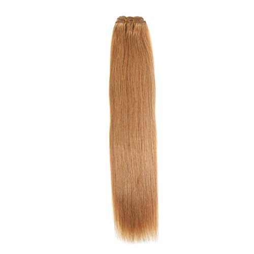 Euro Silky Weave 90g Echthaar Extensions | 61cm | Bronze Blonde (27) (Bronze-gewebe)
