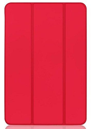 JETech Hülle für iPad Mini 3 iPad Mini 2 iPad Mini, Schutzhülle mit Ständer Funktion und Auto Einschlafen/Aufwachen, Rot