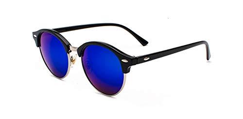 YYXXZZ Sonnenbrillen Rund polarisierten Sonnenbrillen Männer FrauenSonnenbrillenPolarisierende Driving Brillen Halb Rahmen Brillen, blau