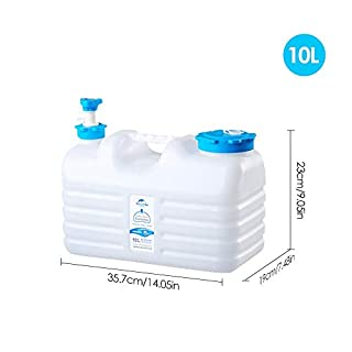 FancyU PE Bucket/Outdoor Drinking Water Container Reservoir Camping Tank with Spigot - Food Grade 10L/12L/18L
