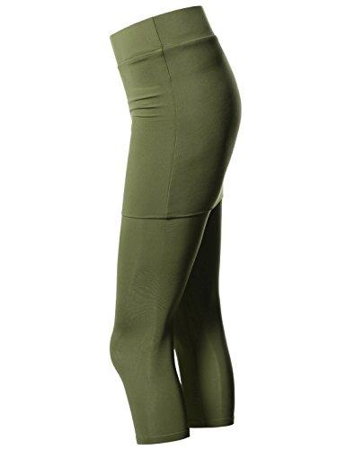 Nearkin Damen Leggings, Durchgehend NKNKWS7L-KHAKI