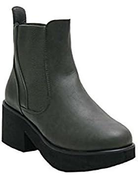 Donna JustGlam scarpe ecopelle anfibi stivaletti tacco comodoblocco