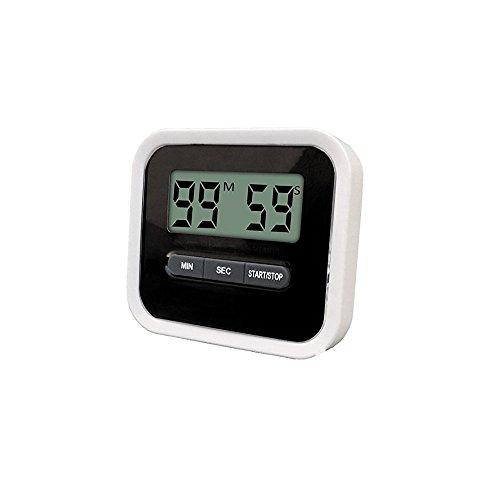 Digital LCD Küche-Timer, Count Up Down Countdown-Timer mit Magnet-Clip und Ständer für Kochen, Studium, Hausaufgaben , Gesichtsmaske , Sport-Übung, Max bis 99 Minuten und 59 Sekunden, Schwarzer