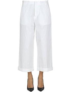 N°21 Mujer MCGLPNP03051E Blanco Algodon Pantalón