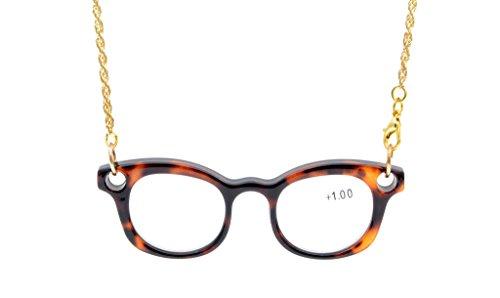 Eyekepper Mini lettori della collana di occhiali da lettura Tortoise 0,75 - Tortoise Plastica Occhiali