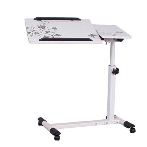 Einstellbare Lift Laptop Computer Schreibtisch Home Bedside Rotation Tilt Bewegen Liege Tisch , - Bett-tisch Tilt