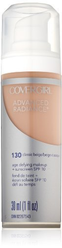 CoverGirl Advanced Radiance Liquid Makeup, Classic Beige 130, 1.0-Ounce by CoverGirl [Beauty] (English Manual)