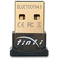 tinxi® Bluetooth 4.0 USB Dongle Adaptador V4.0 Mini palillo de modo dual de alta velocidad Plug and Play