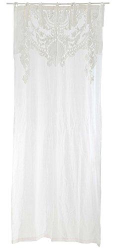 Blanc Mariclo - Rideau Blanc brodé 140 x 290 de la Collection Agave cd65e7a4ff5