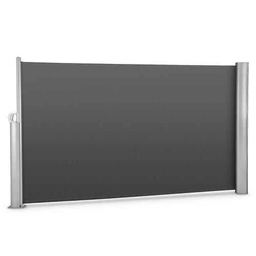 blumfeldt Bari 318 • Seitenmarkise • Standmarkise • Seitenrollo • Sonnenschutz • Polyester 300 x 180 cm • ausziehbar • wasserabweisend • UV-beständig • selbstspannend • pulverbeschichtet • anthrazit