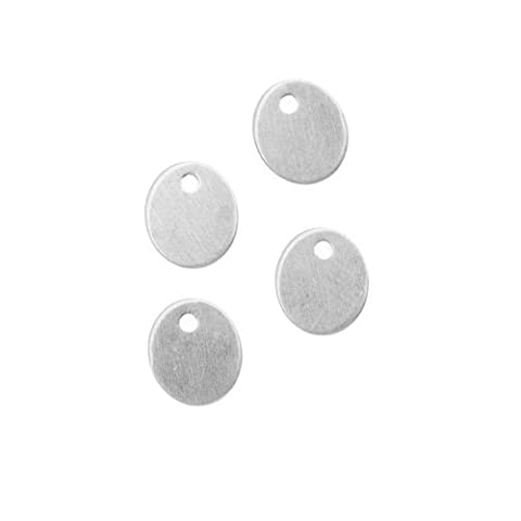 Sterling Silver Blank Charms Oval Pailettes or Jewelry Tags 7.5x6.5mm