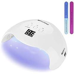 NAVANINO Lampe Séchoir à Ongles, LED/UV Gel vernis à Ongles Séchage Lumière Machine, 3 Modes de Temps, 99s Mode de Chaleur BAS et écran LED pour Manucure/Pédicure Nail Art en la Maison
