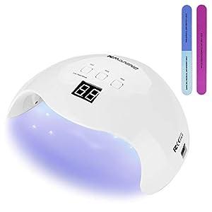 NAVANINO Lámpara Secadora de Uñas LED/UV para Esmalte de Uñas de Gel, Curado Luz en 3 modos para tiempo, Modo de calor…