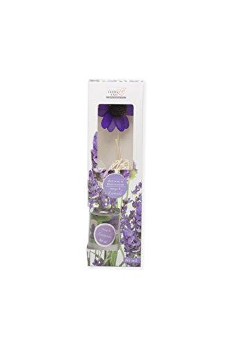 Girm® - ge651824l profumatore ambiente liquido lavanda 50ml. con astine diffondi profumo e fiore decorativo.