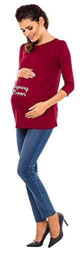Zeta Ville Maternité - Chemisier de grossesse Chemise motif imprimé - femme 465c Cramoisi