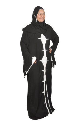 Orientalische-Islamische Kleidung Abaya im Islamic Style in schwarz Größe: S