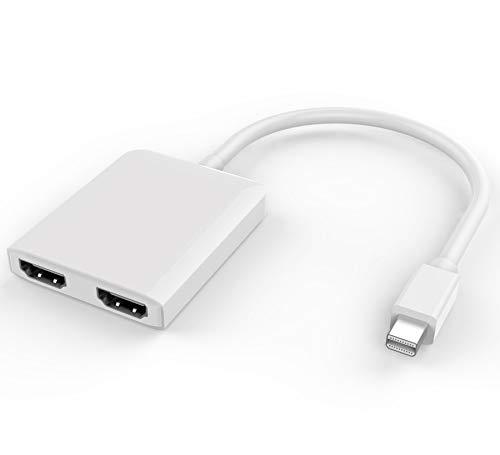 Premium Cord Adapter Mini DisplayPort - 2X HDMI-Splitter, unterstützt 3D, 4K * 2K @ 60Hz, Mac Cord