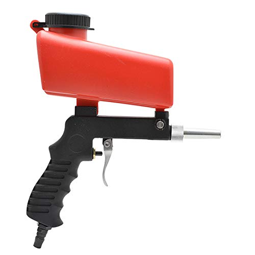 Pistola de chorro de arena, arenadora portátil a prueba de herrumbre, roja,...