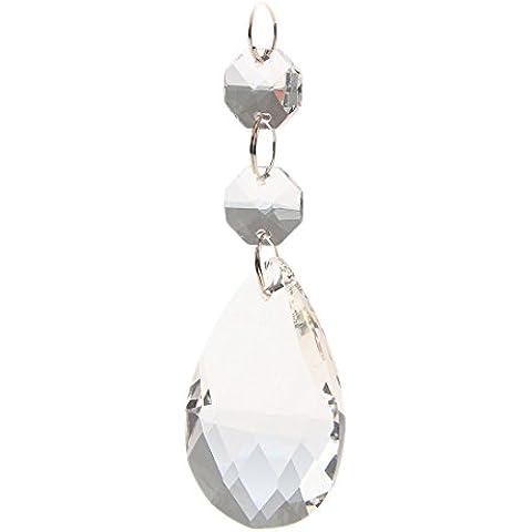 Katomi Lampadario a goccia con cristallo, cristallo d'acqua, confezione da 10 - Artigianale Di Vetro Ornamento