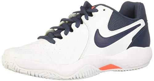 Nike Air Zoom Resistance Scarpe da Tennis Uomo, Multicolore (White/Thunder Blue/Hyper Orange 148), 44 EU