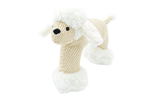 Mr.Buddington Hundespielzeug, Plüschspielzeug mit Quietscher, Elefant, Schaf, AFFE (Hundespielzeug Plüsch Schaf)