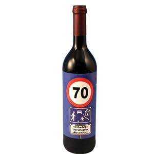 Rotwein zum 70. Geburtstag