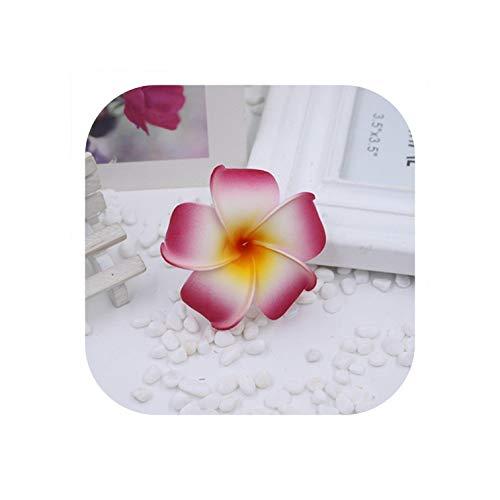 Strawberryran Plumeria 50Pcs / Beutel künstliche Blumen Blasen Ferien Gefälschte Blumen Hochzeit Auto Dekoration, Gold